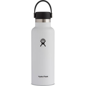 Hydro Flask Standard Mouth Drinkfles met standaard Flex Cap 532ml, white